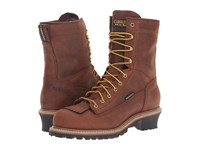 Carolina 8 Waterproof Lace To Toe Logger Copper Crazy Horse Men's Work Boots