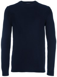 Roberto Collina Classic Knitted Sweater Blue