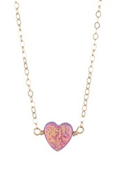 Bb Collection Heart Necklace Purple