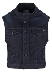 G Star Gstar Tailor Cropped S Less Jkt Waistcoat Slander Raven Supers Dark Blue Denim