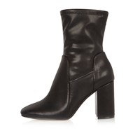 River Island Womens Black Wide Fit Stretch Ankle Boots