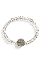 Panacea Women's Drusy Beaded Stretch Bracelet
