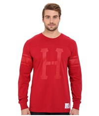 Huf Home Field Long Sleeve Shirt Red Men's Long Sleeve Pullover