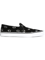 Kenzo Eye Print Slip On Sneakers Black