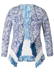Chesca Scribble Print Lace Shrug Cardigan