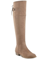 G By Guess Aikon Over The Knee Boots Women's Shoes Taupe