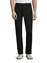 Revo Flat Front Zipped Pants Black