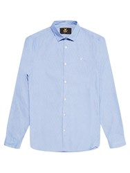 Lyle And Scott Long Sleeve Diagonal Shirt Riviera Blue