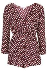 Wrap Over Playsuit By Glamorous Petites Burgandy