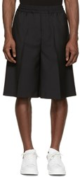 Acne Studios Black Wool Ryder Shorts