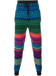 Mcq By Alexander Mcqueen Fair Isle Knit Track Pants Multicolour