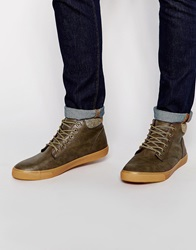 New Look Faux Leather Chukka Boots Darkbrown