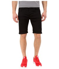 G Star 3301 Deconstructed Shorts In Cilex Black Superstretch Rinsed Cilex Black Superstretch Rinsed Men's Shorts
