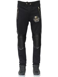 Philipp Plein Biker Detail Cotton Jogging Pants