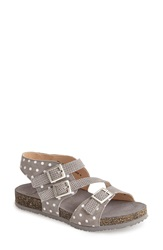 Think 'Dufde' Leather Sandal Women Grey