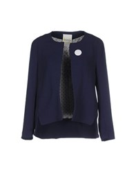 Ottod'ame Suits And Jackets Blazers Women Dark Blue