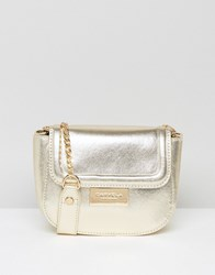 Carvela Metallic Mini Cross Body Bag Gold