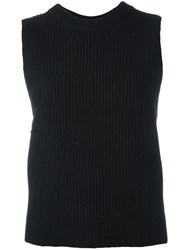Dkny Ribbed Tank Top Black