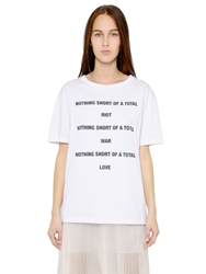 Yang Li Nothing Short Of Printed Cotton T Shirt White