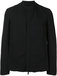 Tom Rebl Collarless Short Jacket Black