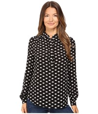 Kate Spade Swans Shirt Black Multi