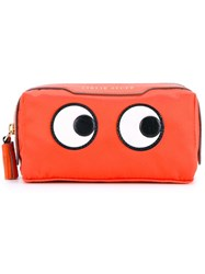 Anya Hindmarch Girlie Stuff Pouch Yellow And Orange