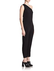 Stella Mccartney Faith Tuxedo Stripe Jumpsuit Black