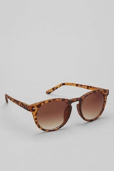 Urban Outfitters Rubberized Keyhole Sunglasses Brown