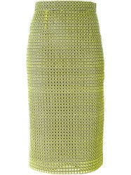 Marco Bologna Embroidered Pencil Skirt Yellow And Orange