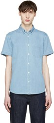 Acne Studios Blue Denim Superbleach Isherwood Shirt