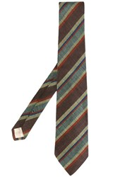 Givenchy Vintage Striped Tie Brown
