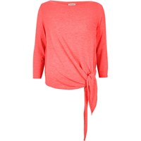 River Island Womens Bright Pink Tied Top