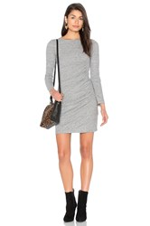 Ikks Paris Ruched Jersey Dress Gray