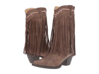 Roper Fringes Brown Faux Leather Cowboy Boots
