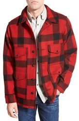 Men's Filson 'Vintage' Twill Flannel Shirt Red Tartan