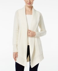 Styleandco. Style Co. Shawl Collar Open Front Cardigan Only At Macy's Warm Ivory