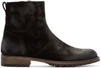 Belstaff Black Suede Atwell Ankle Boots