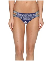 Roxy Band It Base Girl Bikini Bottom Sw Kantha Quilt Combo Marine Women's Swimwear Multi