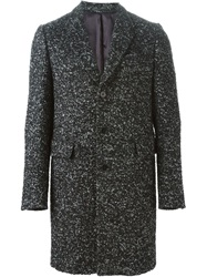 Ps Paul Smith Boucle Single Breasted Coat Black