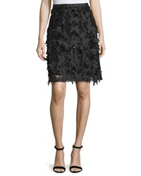 Escada Mid Length Embellished Skirt Black