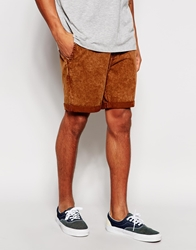 Vans Chino Shorts In Acid Wash Red