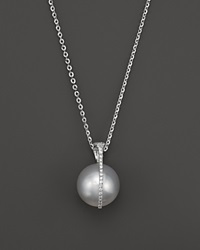 Tara Pearls South Sea Cultured Pearl And Diamond Pendant Necklace In 18K White Gold 15