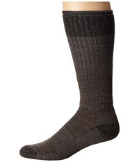 Smartwool Heathered Hiker Crew Taupe Men's Crew Cut Socks Shoes