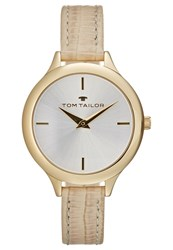 Tom Tailor Watch Goldfarben Creme