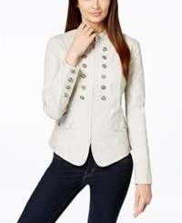 Inc International Concepts Double Breasted Military Jacket Only At Macy's Toad Beige