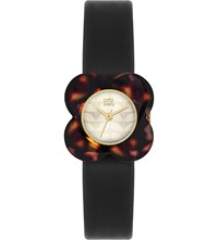 Orla Kiely Poppy Leather Watch Champagne