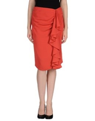 Fendi Knee Length Skirts Coral