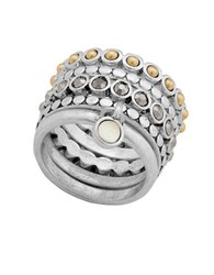 Lucky Brand Pave Stacked Ring Silver