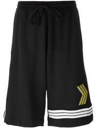 Amen Patch Detail Track Shorts Black