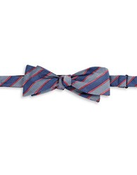Vince Camuto Striped Bow Tie Red